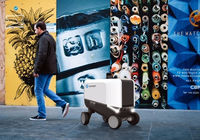 设计师Dmitry Skorinko公布了最新的Eliport送货机器人概念产品,并称这种城市送货机器人将会有望在2020年进行投放市场。
